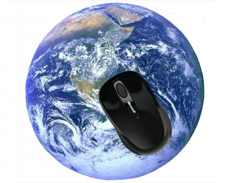 Tapis de souris rond personnalisé avec une photo