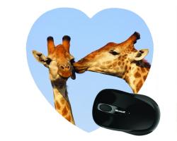 Tapis de souris en forme de coeur personnalisé avec une photo