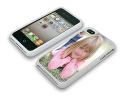 Coque de protection grise pour Iphone 4 et 4s personnalisée avec une photo