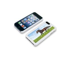 Coque de protection blanche pour Iphone 5 personnalisée avec une photo