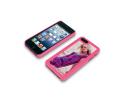 Coque de protection rose pour Iphone 5 personnalisée avec une photo