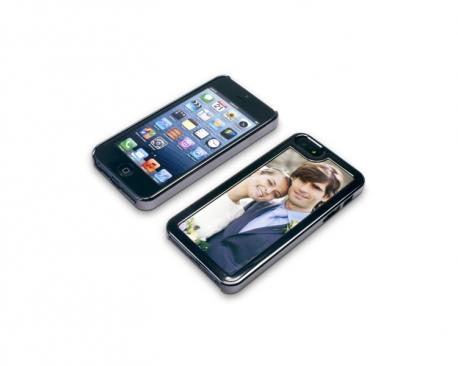 Coque de protection de couleur gris anthracite pour Iphone 5 personnalisée avec une photo