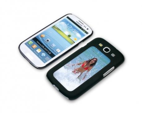 Coque de protection noire pour Galaxy S3 / i9300 personnalisée avec une photo