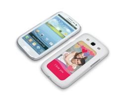Coque de protection blanche pour Galaxy S3 / i9300 personnalisée avec une photo