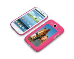 Coque de protection rose pour Galaxy S3 / i9300 personnalisée avec une photo