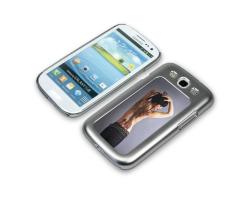 Coque de protection de couleur gris argenté pour Galaxy S3 / i9300 personnalisée avec une photo