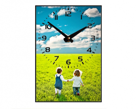 Horloge à personnaliser - Aiguilles en haut
