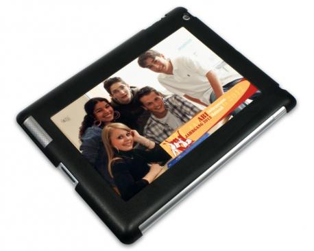 Coque de protection noire pour iPad 2, 3 et 4 personnalisée avec une photo