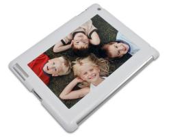 Coque de protection blanche pour iPad 2, 3 et 4 personnalisée avec une photo