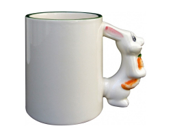 Mug avec poignée en forme de lapin à personnaliser avec une photo