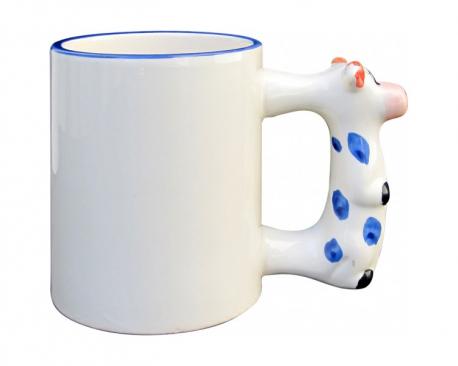 Mug avec poignée en forme de vache à personnaliser avec une photo