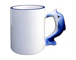Mug avec poignée en forme de dauphin à personnaliser avec une photo