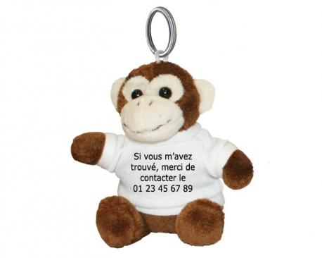 Porte-clés Singe à personnaliser avec une photo