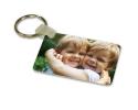 Porte-clés rectangulaire en aluminium à personnaliser avec une ou deux photos