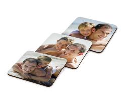 Sous-verre en bois 9 cm x 9 cm à personnaliser avec une photo