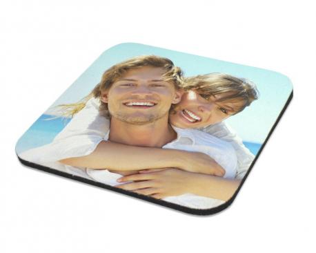 Sous-verre brillant souple à personnaliser avec une photo