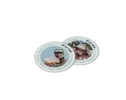 Sous-verre rond en verre à personnaliser avec une photo