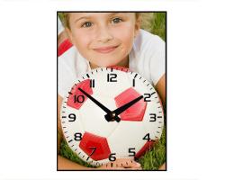 Horloge à personnaliser - Aiguilles en bas