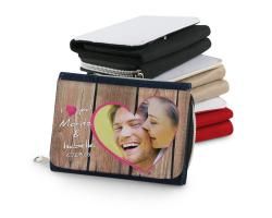 Portefeuille textile à personnaliser avec une photo