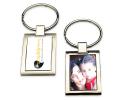 Porte-clés en métal brillant à personnaliser avec une photo