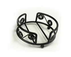 Support en fil métallique pour sous-verres ronds