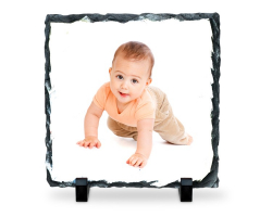 Panneau carré en ardoise à personnaliser avec une photo de 14 cm