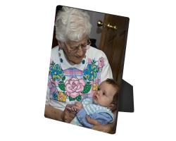 Panneau en bois de 20 cm par 25 cm à personnaliser avec une photo