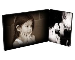2 panneaux en bois à personnaliser avec deux photos