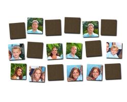 Jeu de mémoire en bois à personnaliser avec 9 photos