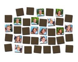Jeu de mémoire en bois à personnaliser avec 18 photos