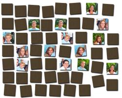 Jeu de mémoire en bois à personnaliser avec 27 photos