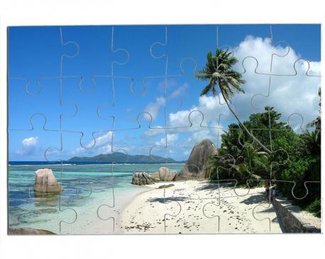 Puzzle 24 pièces à personnaliser avec une photo - Format paysage