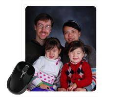 Tapis de souris 23 cm x 19 cm personnalisé avec une photo - Format portrait