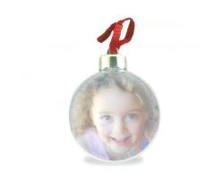 Boule de Noël à personnaliser avec 2 photos
