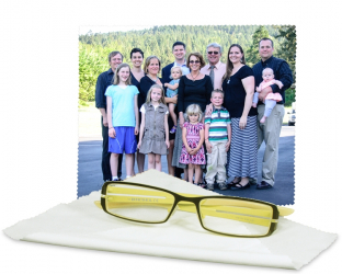 Chiffon à lunettes, écrans, personnalisé avec une photo (15 cm x 18 cm)