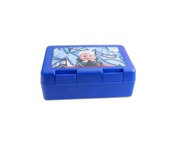 Boite sandwich bleue à personnaliser avec une photo