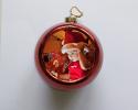 Boule de Noël rouge à personnaliser avec une photo