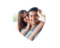 Aimant en forme de coeur à personnaliser avec une photo