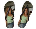 Tongs taille YS (25-28) personnalisées avec deux photos