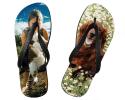 Tongs taille YL (30-34) personnalisées avec deux photos