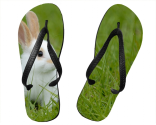 Tongs taille L (42-44) personnalisés avec deux photos