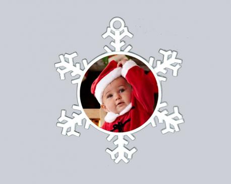 Flocon de neige à personnaliser avec une photo