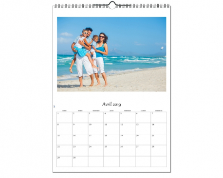 Calendrier photos A3 - Papier brillant 270g