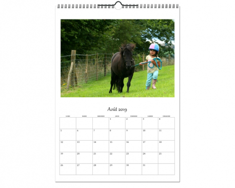 Calendrier photos A3 - Papier satiné 270g