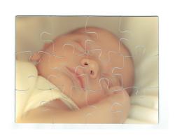Puzzle magnétique 12 pièces personnalisé avec une photo - Format paysage
