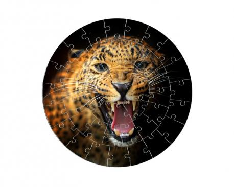 Puzzle rond 46 pièces personnalisé avec une photo