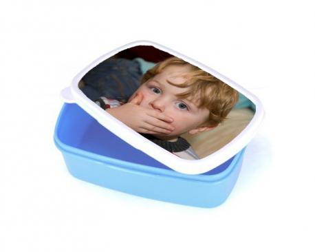 Boite hermétique bleue à personnaliser avec une photo