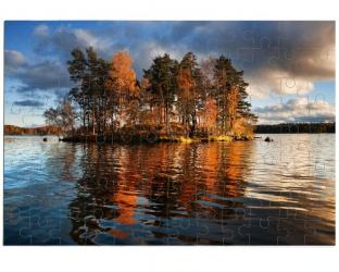Puzzle 96 pièces à personnaliser avec une photo - Format paysage